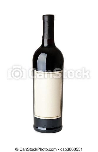 bottle of red wine - csp3860551