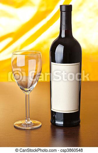 bottle of red wine - csp3860548