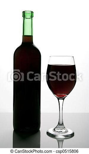 bottle of red wine - csp0515806