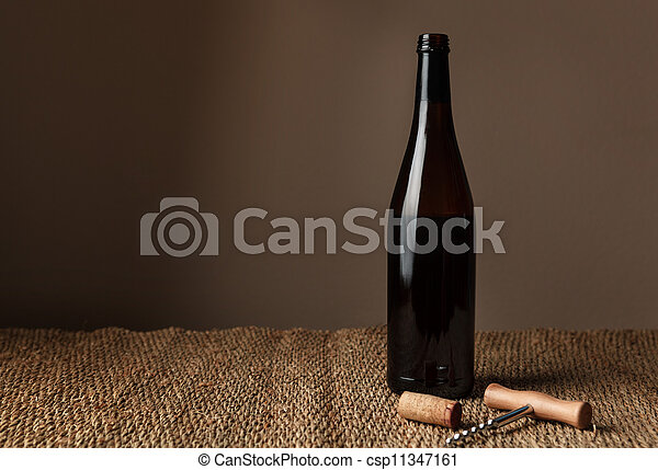 Bottle of red wine - csp11347161