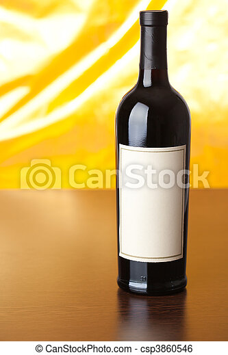 bottle of red wine - csp3860546
