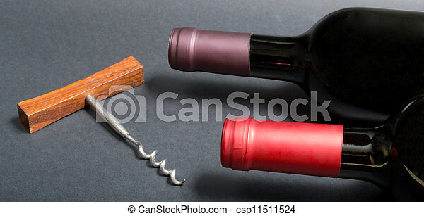 Bottle of red wine - csp11511524