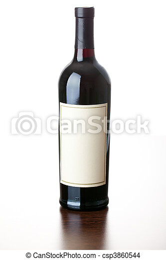 bottle of red wine - csp3860544