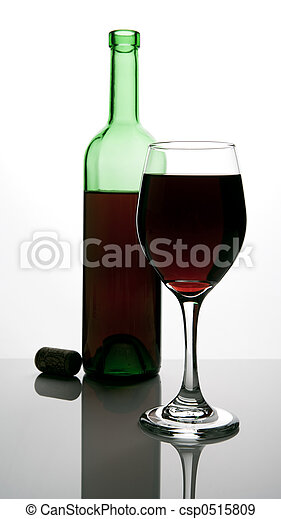 bottle of red wine - csp0515809