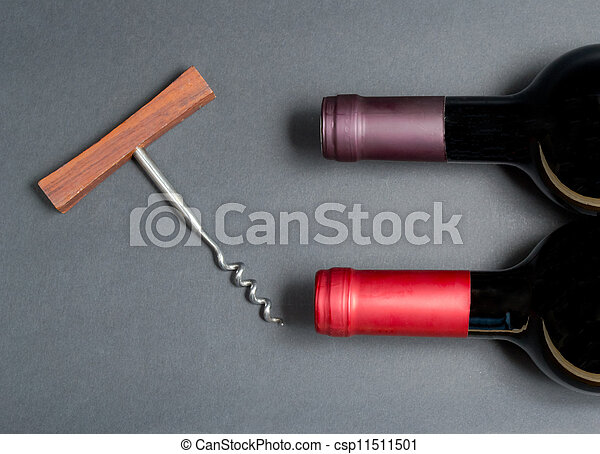 Bottle of red wine - csp11511501