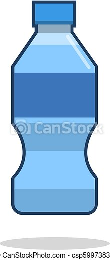Bottle of water icon in flat style isolated on white background. Vector illustration - csp59973837