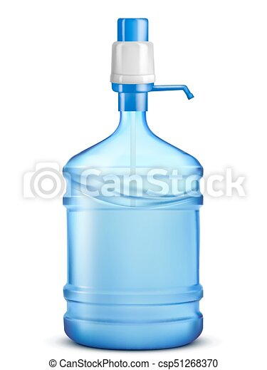 Bottle of water. Vector illustration - csp51268370