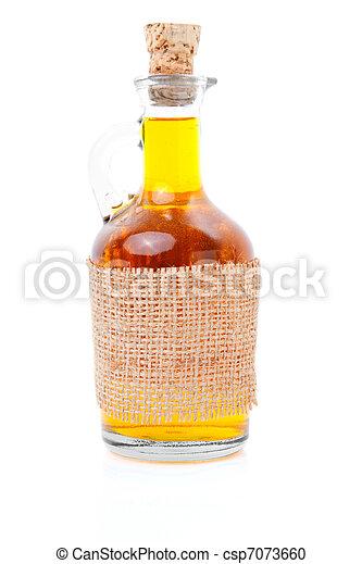 bottle of whiskey / scotch / wine on white  - csp7073660