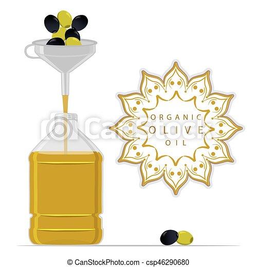 bottle Olive Oil - csp46290680