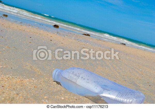 bottle on the beach - csp11176213