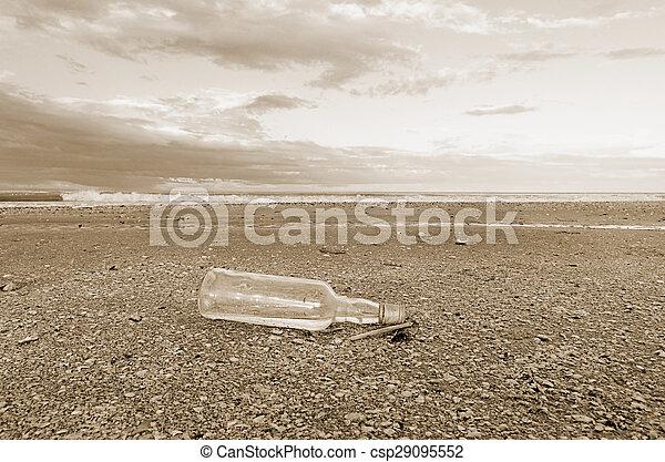 bottle on the beach - csp29095552