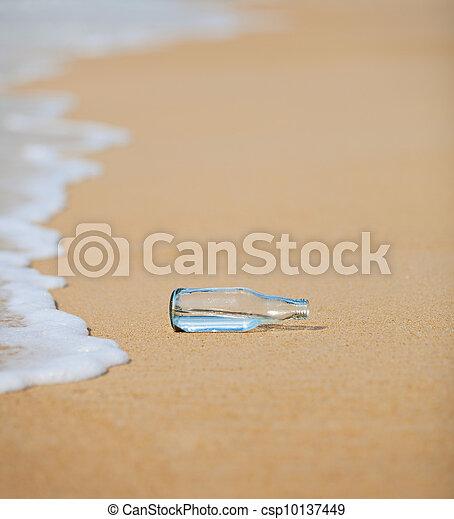 Bottle on the beach - csp10137449