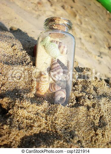 bottle on the beach - csp1221914