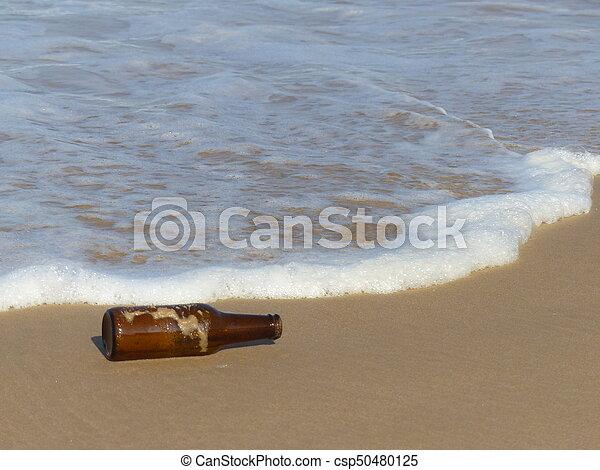 Bottle on the beach - csp50480125