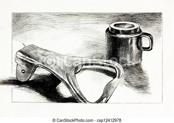 Bottle opener and cup - csp12412978