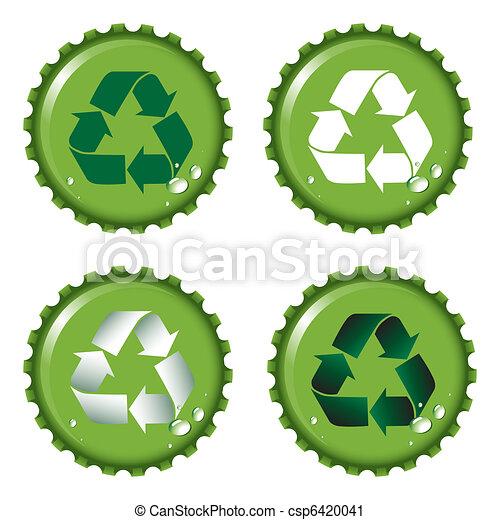 Bottle tops recycle. - csp6420041