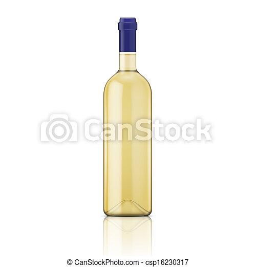 bottle., vino blanco - csp16230317