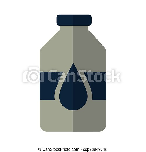 bottle with oil on white background - csp78949718