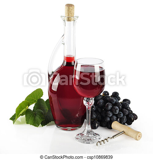 Bottle with red wine - csp10869839