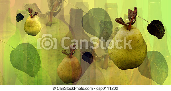 Bottles and pears - csp0111202