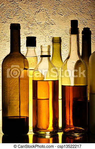 Bottles of alcohol - csp13522217