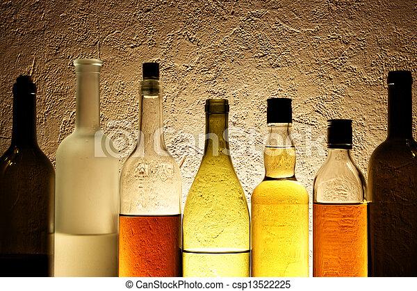 Bottles of alcohol - csp13522225