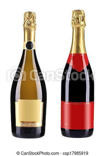 Bottles of champagne. - csp17985919
