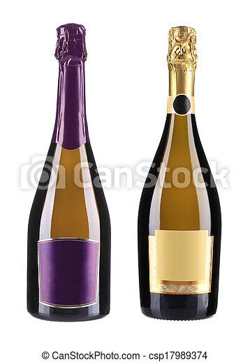 Bottles of champagne. - csp17989374