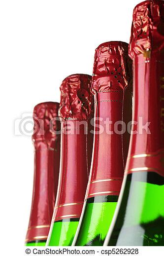 Bottles of champagne - csp5262928