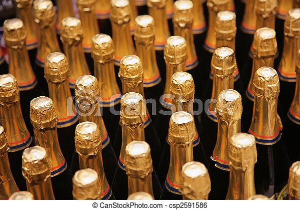 bottles of champagne - csp2591586