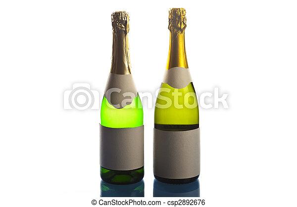 Bottles of champagne - csp2892676