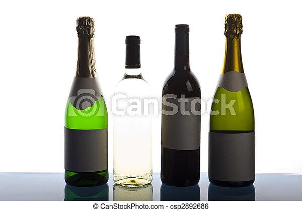Bottles of champagne - csp2892686