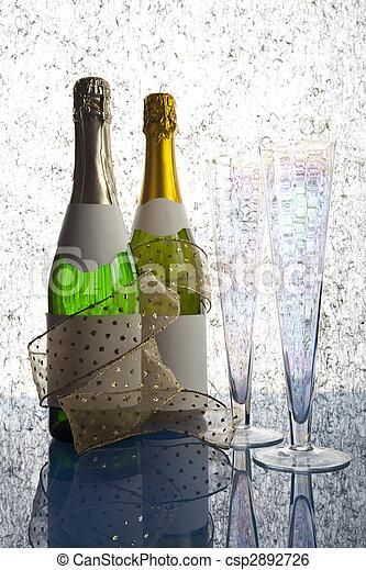 Bottles of champagne - csp2892726