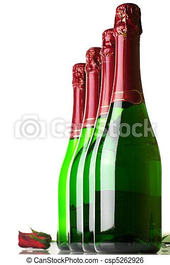 Bottles of champagne - csp5262926
