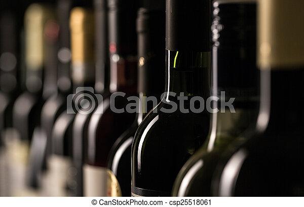 Bottles of wine - csp25518061