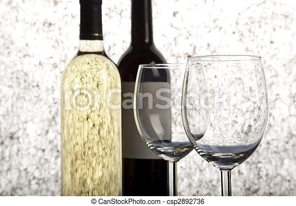 Bottles of wine - csp2892736