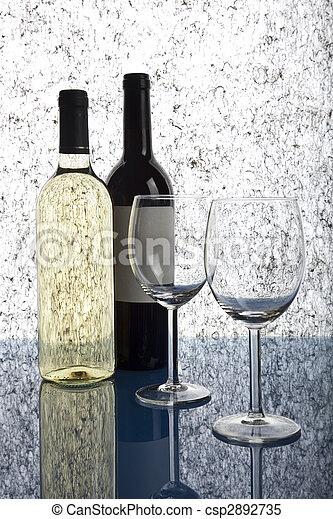 Bottles of wine - csp2892735
