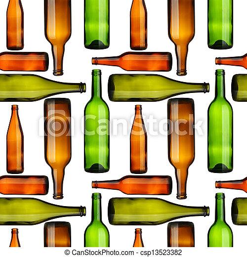 Bottles seamless - csp13523382