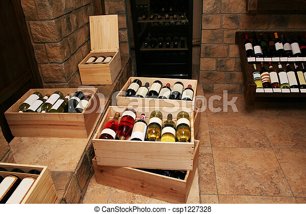 Bottles with old wine - csp1227328