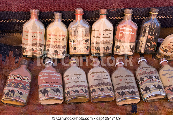 Bottles with sand pictures - csp12947109