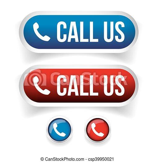 bottone, -, ci, telefono, vettore, chiamata, icona - csp39950021