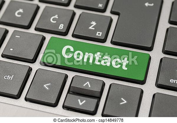 bottone, contatto, tastiera computer - csp14849778