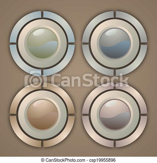 bottone, eleganza - csp19955896
