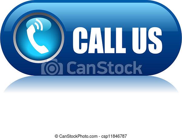 bottone, vettore, chiamata, ci - csp11846787