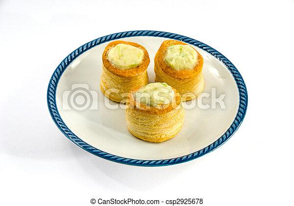 Bouchée à la reine - Chicken and Asparagus Vol-au-vent  - csp2925678