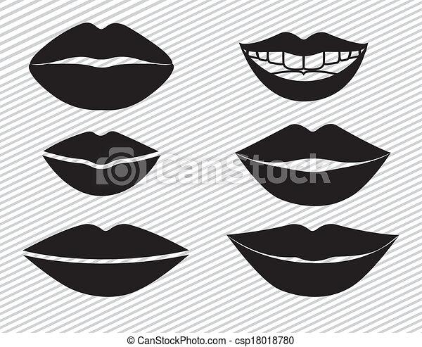 bouche, conception - csp18018780