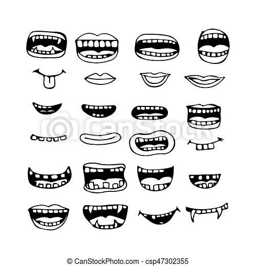 Images de bouche de dessin animé