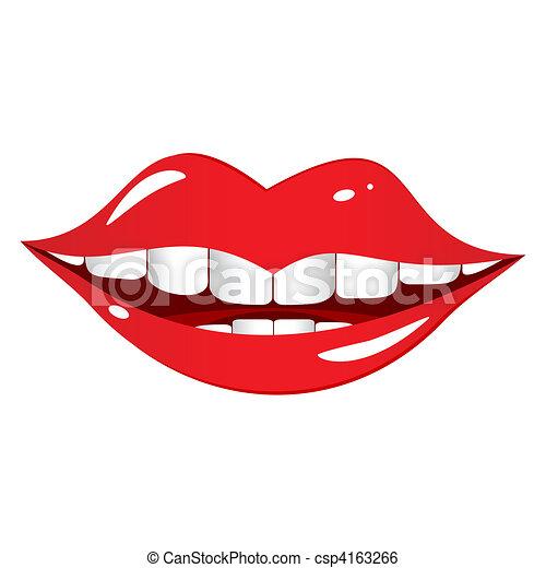 bouche, laughs. - csp4163266