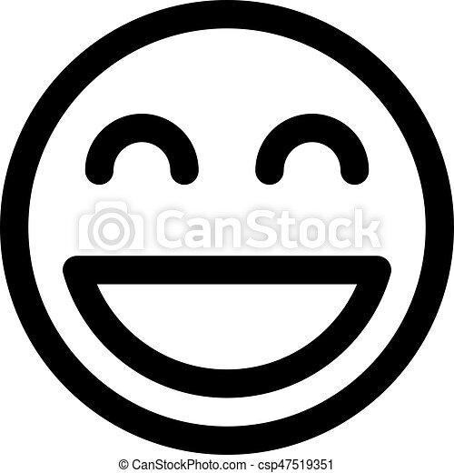 Bouche Sourire Ouvert Emoji Canstock