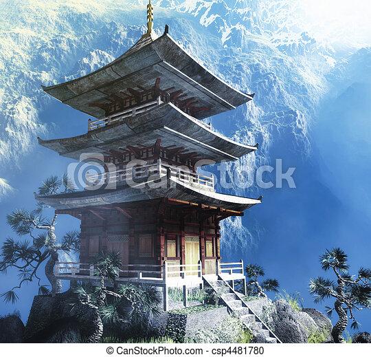 bouddhiste zen, temple - csp4481780